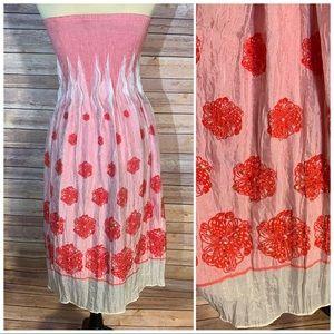 Anthropologie/Lapis convertible dress/maxi skirt